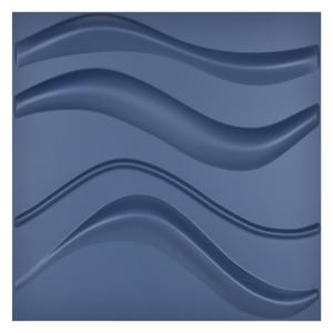 Navy Blue Waver Decorative Wall Panel 3D Wall Tiles 19.7 in. x 19.7 in.( 32 sq. ft./Pack)