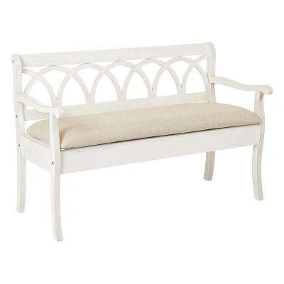 Antique White Coventry Storage Bench