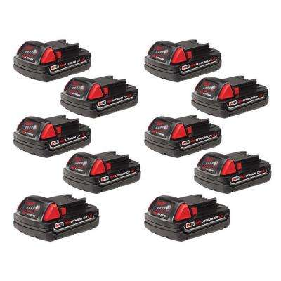 M18 18-Volt Lithium-Ion Compact Battery Pack 1.5Ah (10-Pack)