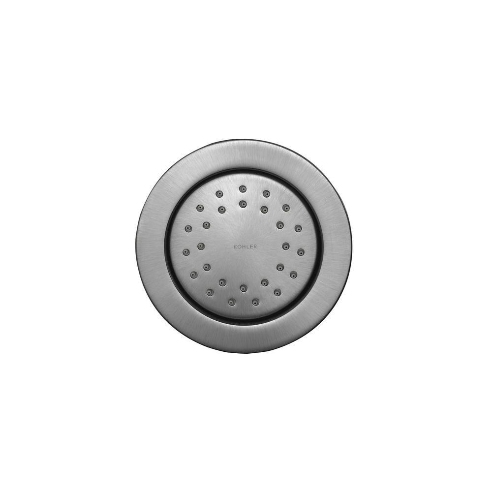 KOHLER WaterTile 4.875 in. 1-spray Single Function Round 27-Nozzle Body Sprayer in Brushed Chrome