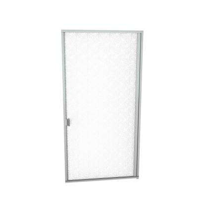 1000 Series 32-13/16 in. W x 70 in. H Semi-Frameless Pivot Shower Door in Brushed Nickel with Pull Handle