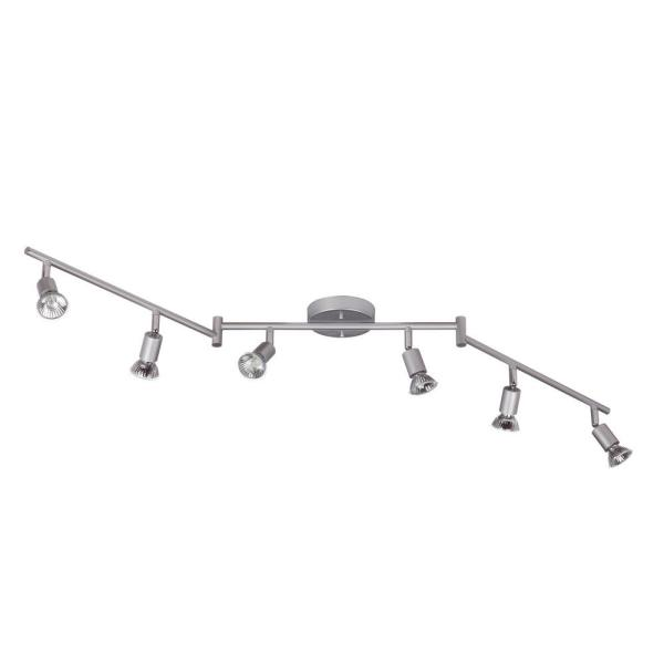 Payton 3.9 ft. 6-Light Silver Track Lighting Kit