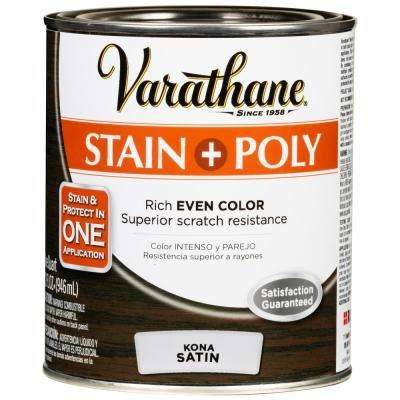 1 Qt. Kona 450 Satin Oil-Based Interior Stain and Polyurethane (2-Pack)