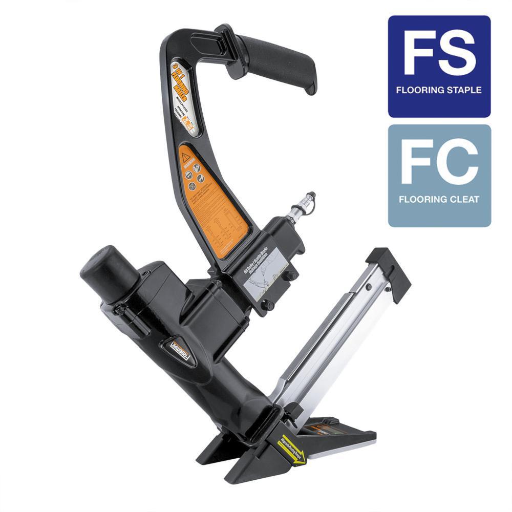 Freeman Pneumatic 3-in-1 15.5-Gauge and 16-Gauge 2 in. Flooring Nailer and Stapler