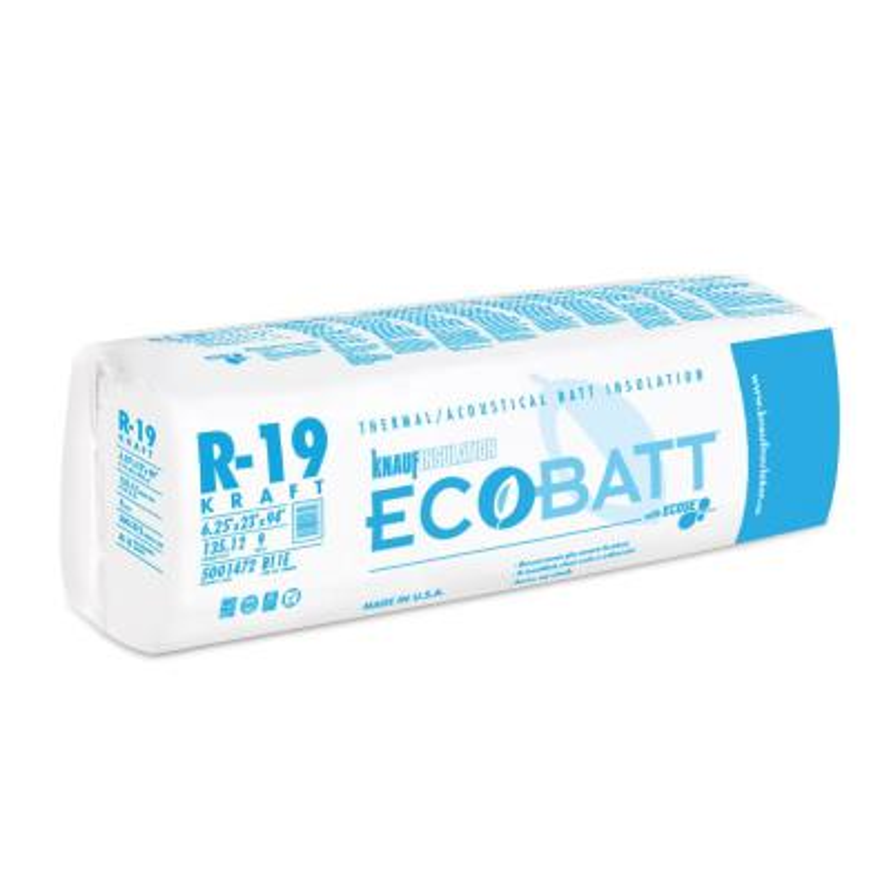 R-19 EcoBatt Kraft Faced Fiberglass Insulation Batt 6-1/4 in. x 23 in. x 94 in.