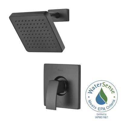 Kenzo Single-Handle Shower Faucet Trim Kit in Matte Black (Valve Not Included)