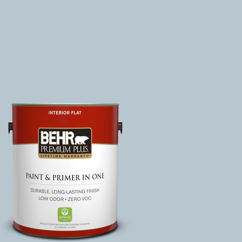 BEHR Premium Plus 1-gal. #560E-3 Silver Strand Zero VOC Flat Interior Paint