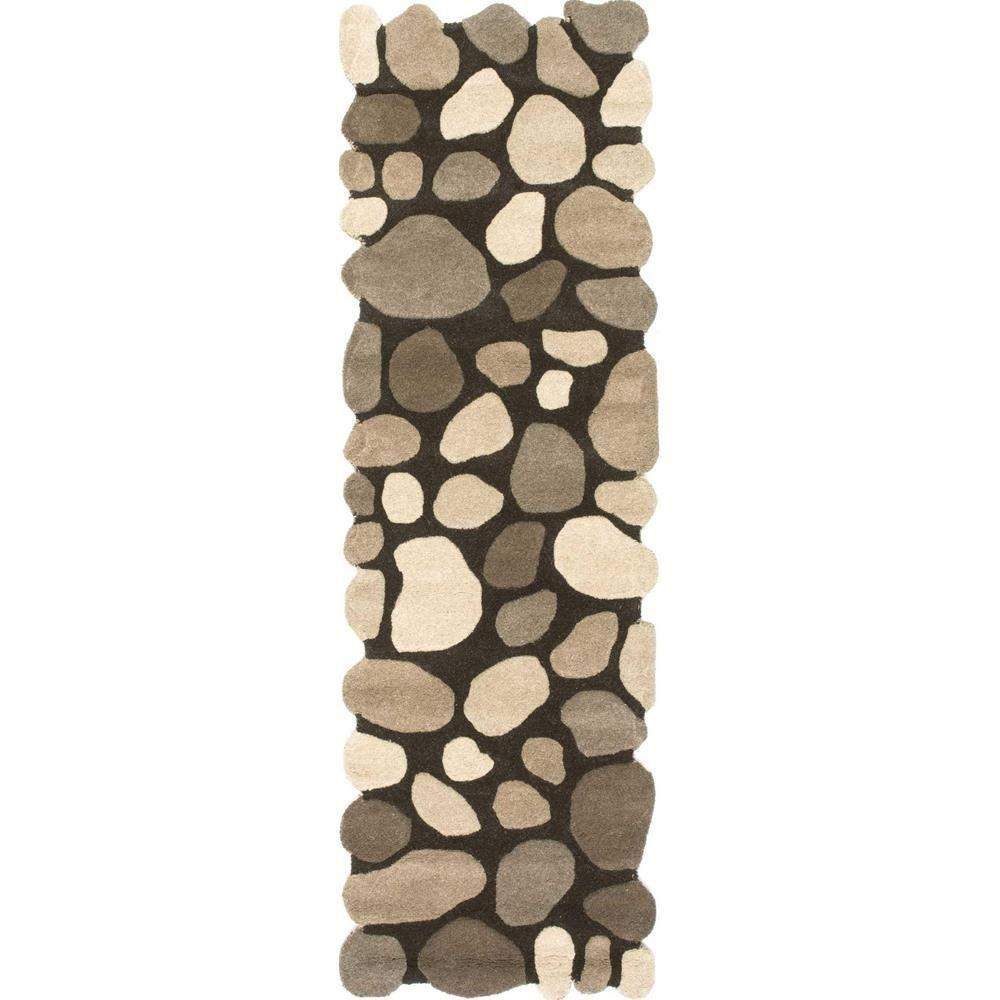 nuLOOM Wool Pebbles Natural 3 ft. x 8 ft. Runner
