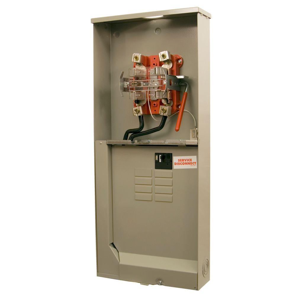 250 Amp 8-Space 12-Circuit Ringless Lever-Bypass Overhead/Underground 5-Terminal