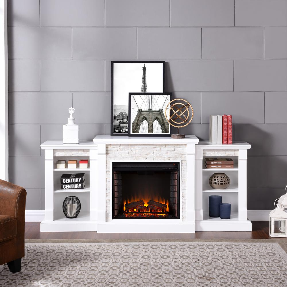 mantel surround faux fireplace beam with shelves