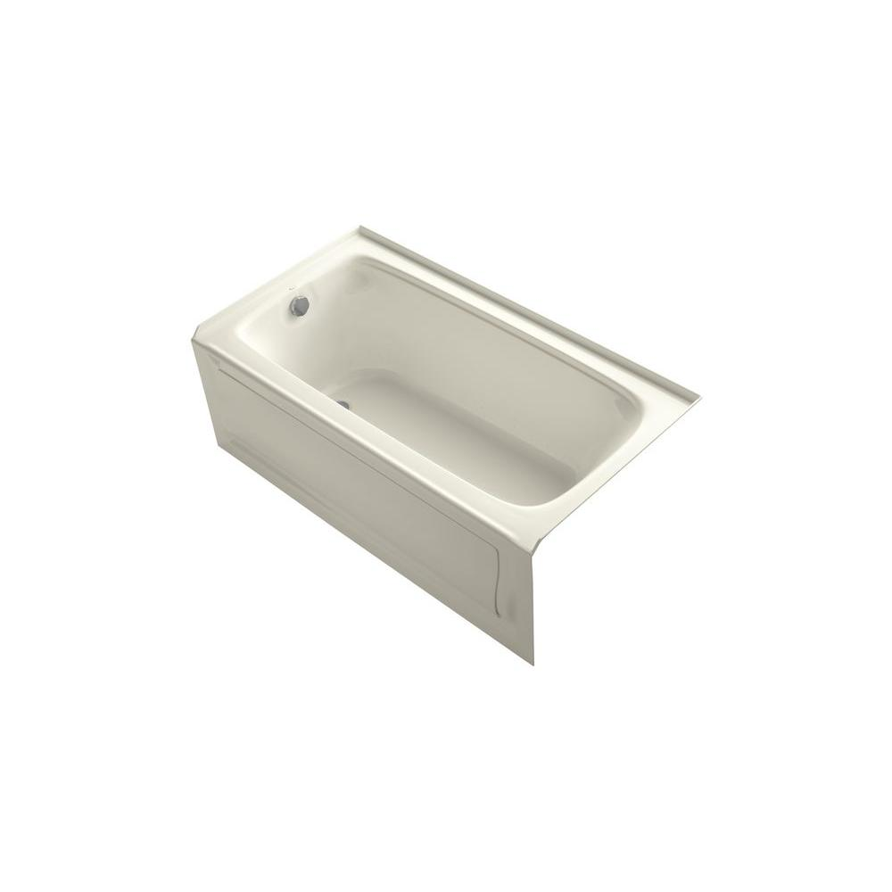 KOHLER Bancroft 5 ft. Whirlpool Tub in Biscuit