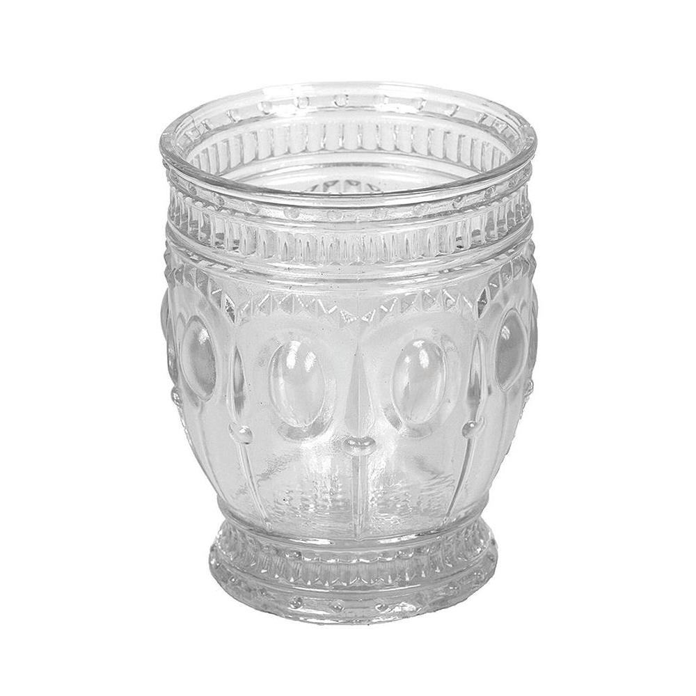 10 oz. Embossed Drinking Glasses (Set of 4)