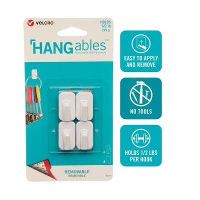 HANGables Removable Micro Hook in White (4-Count)