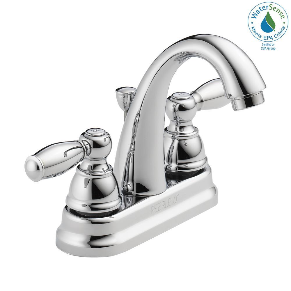 Peerless 4 in. Centerset 2-Handle Bathroom Faucet in Chrome