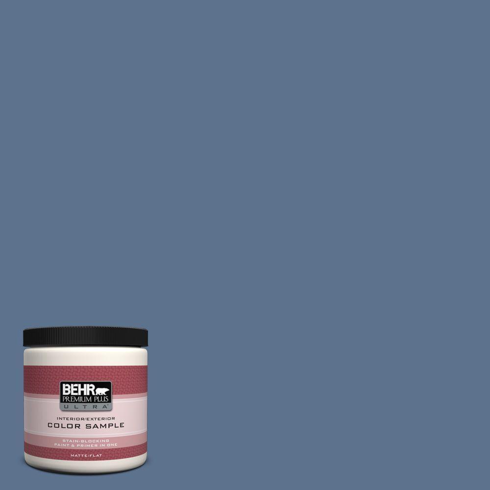 BEHR Premium Plus Ultra 8 oz. #PPU14-1 Arrowhead Lake Interior/Exterior Paint Sample
