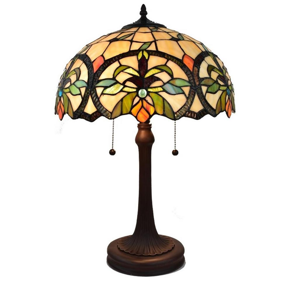 23 in. Tiffany Style Multi-Color Table Lamp