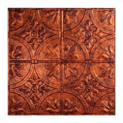 Traditional 2 - 2 ft. x 2 ft. Lay-in Ceiling Tile in Moonstone Copper