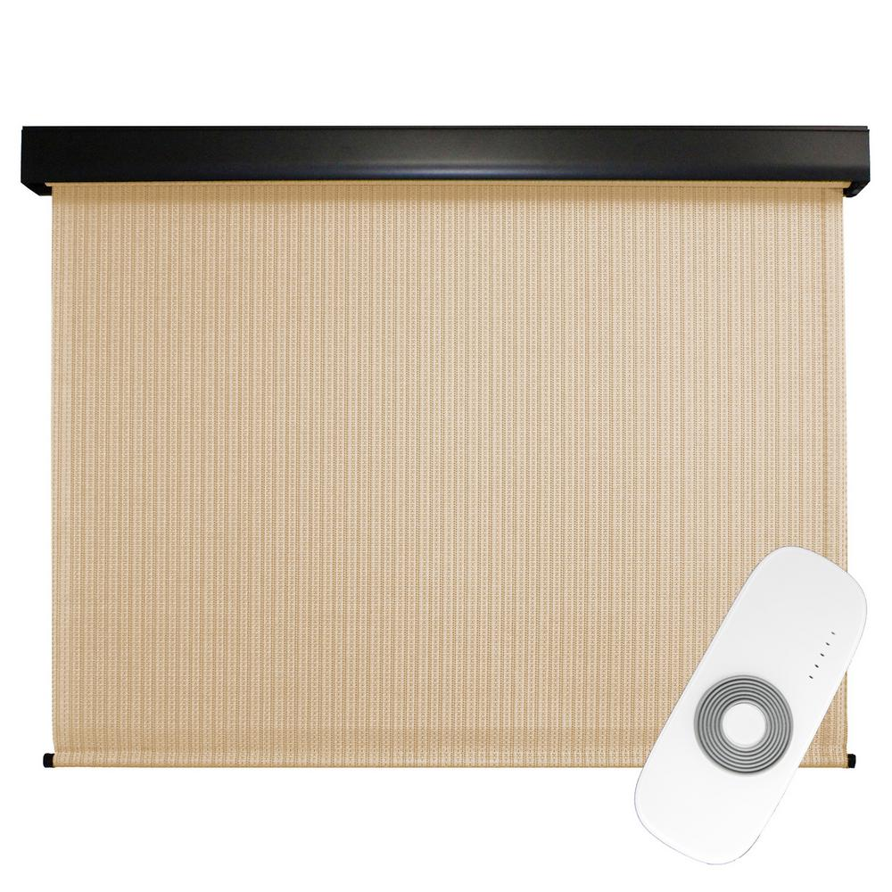Seasun 120 In W X 96 In L Clearwater Premium Pvc Fabric Exterior Roller Shade Motor Remote