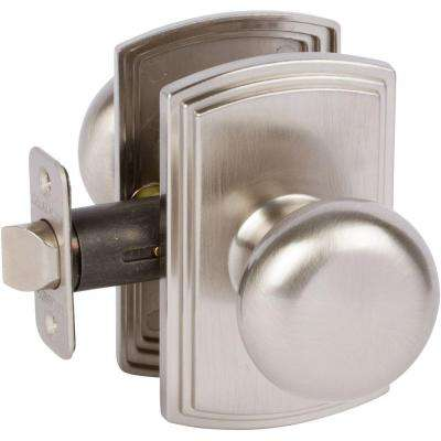 Italian Collection Santo Satin Nickel Hall and Closet Knob