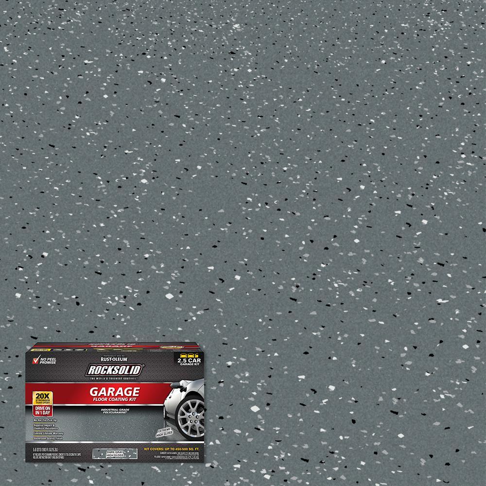 180 oz. Dark Gray Polycuramine 2.5 Car Garage Floor Kit