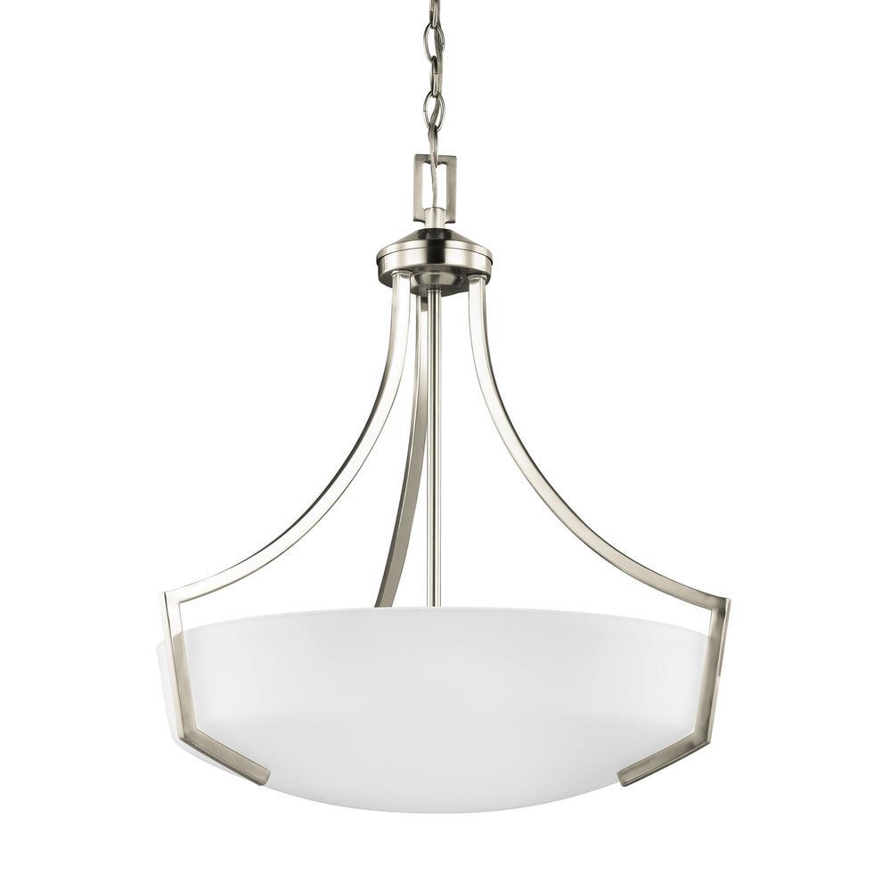 Sea Gull Lighting Hanford 3-Light Brushed Nickel Pendant