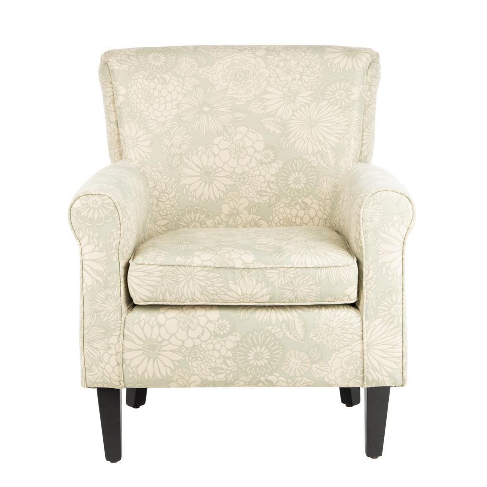 Hazina Abbey Mist Cotton Blend Club Arm Chair