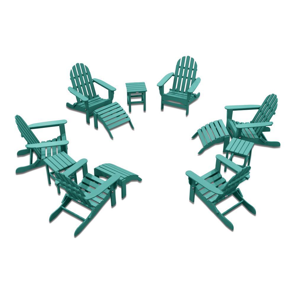 Icon Aruba 12-Piece Plastic Adirondack Patio Conversation Seating Set
