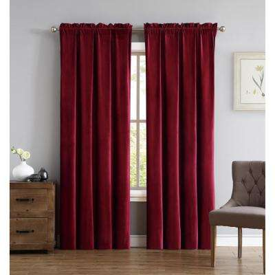 Everyday Pleated Velvet Drape Sets Red Drape Set
