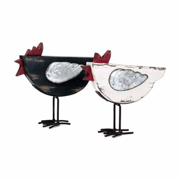 Multi-Colored Kenzie Chickens (Set of 2)
