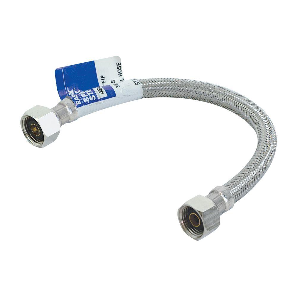 1/2 in. x 1.33 ft. Stainless Steel Faucet Connector