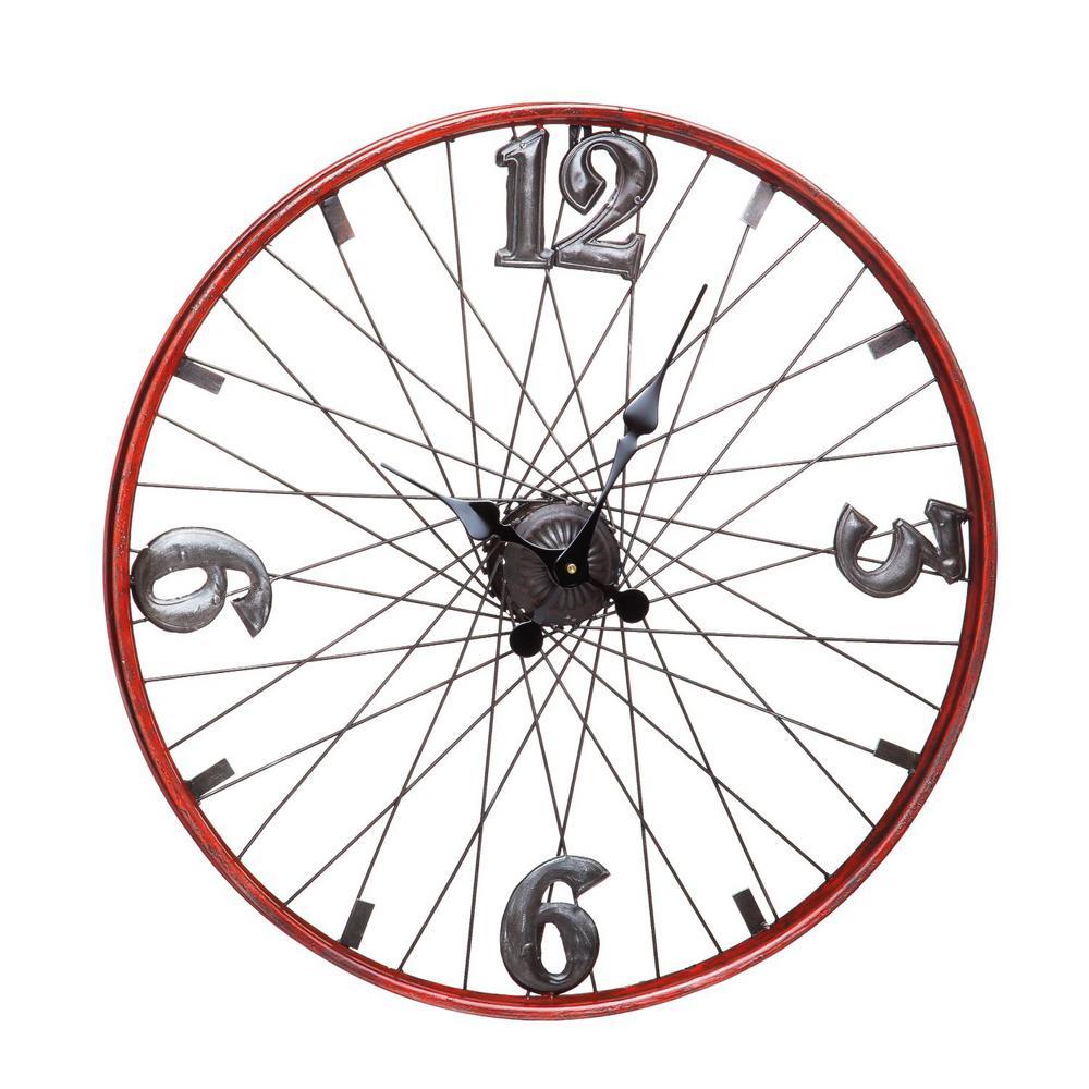 Bicycle Wheel Metal Clock