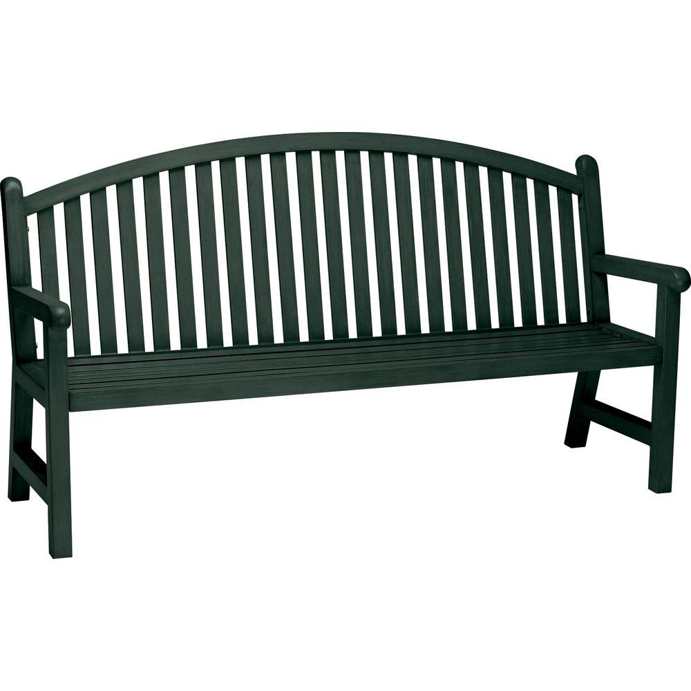 Tradewinds Spring Arbor 6 ft. Contract Arch Back Hunter Bench Slat ...