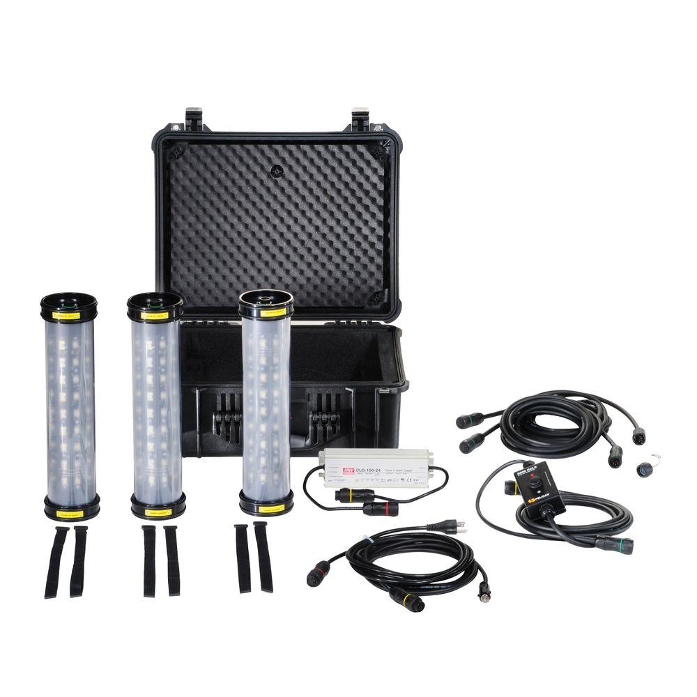 Pelican Shelter Lighting System Portable Three Light Fixtures -DISCONTINUED