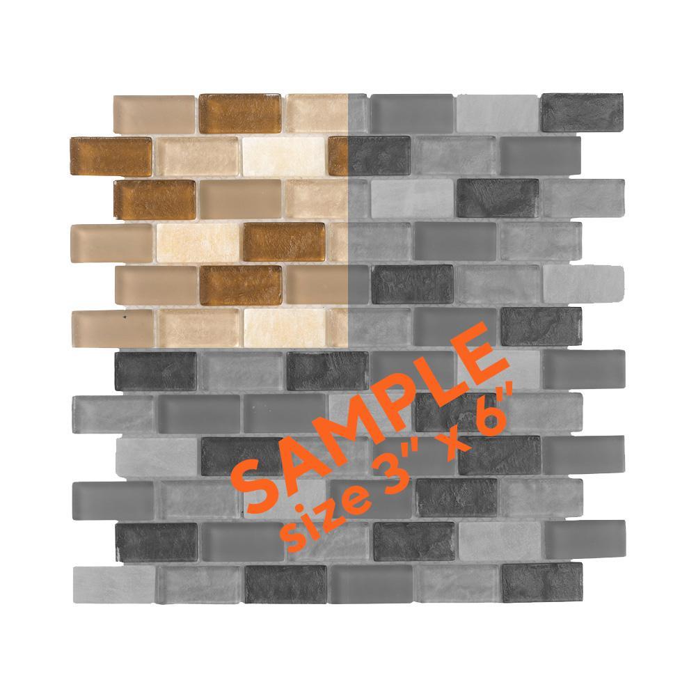 Honey Onyx Brick 3 in. x 6 in. x 8 mm Glass Onyx Mosaic Tile Sample