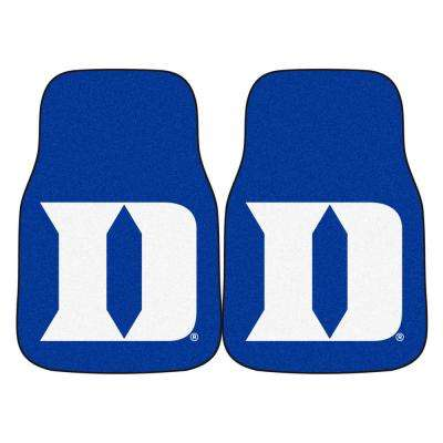 NCAA - Duke University Blue Heavy Duty 2-Piece 17 in. x 27 in. Nylon Carpet Car Mat