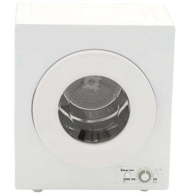Compact 2.6 cu. ft. Electric Dryer in White