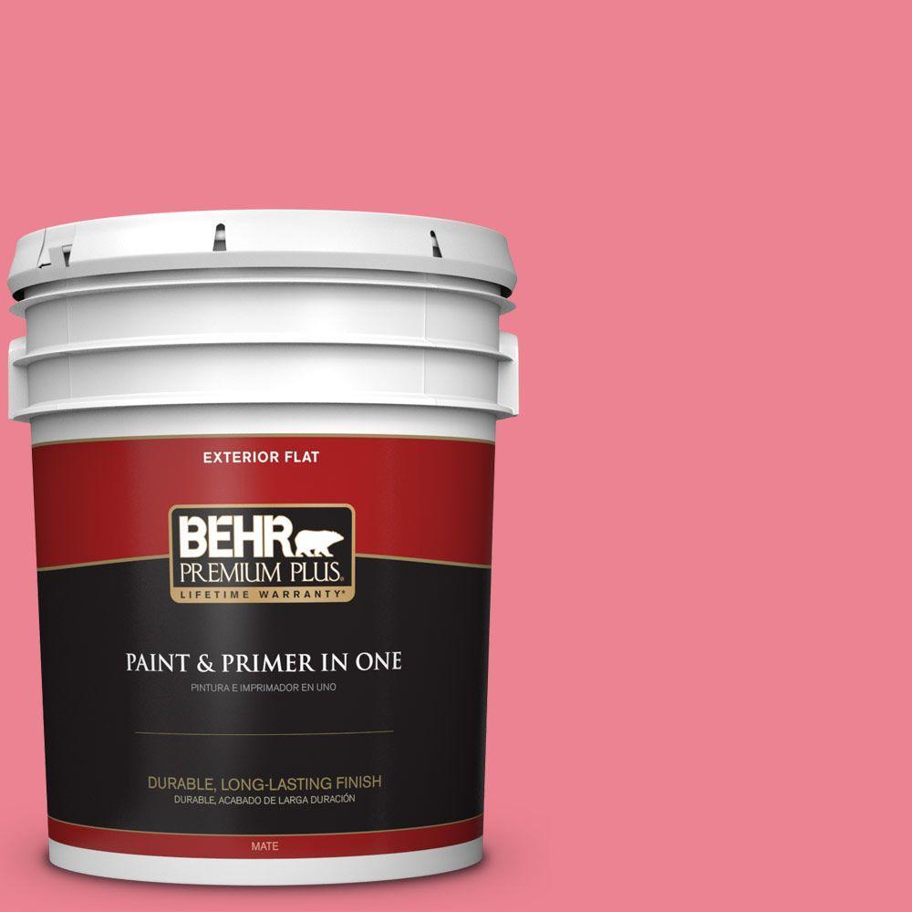 BEHR Premium Plus 5-gal. #130B-5 Bridesmaid Flat Exterior Paint