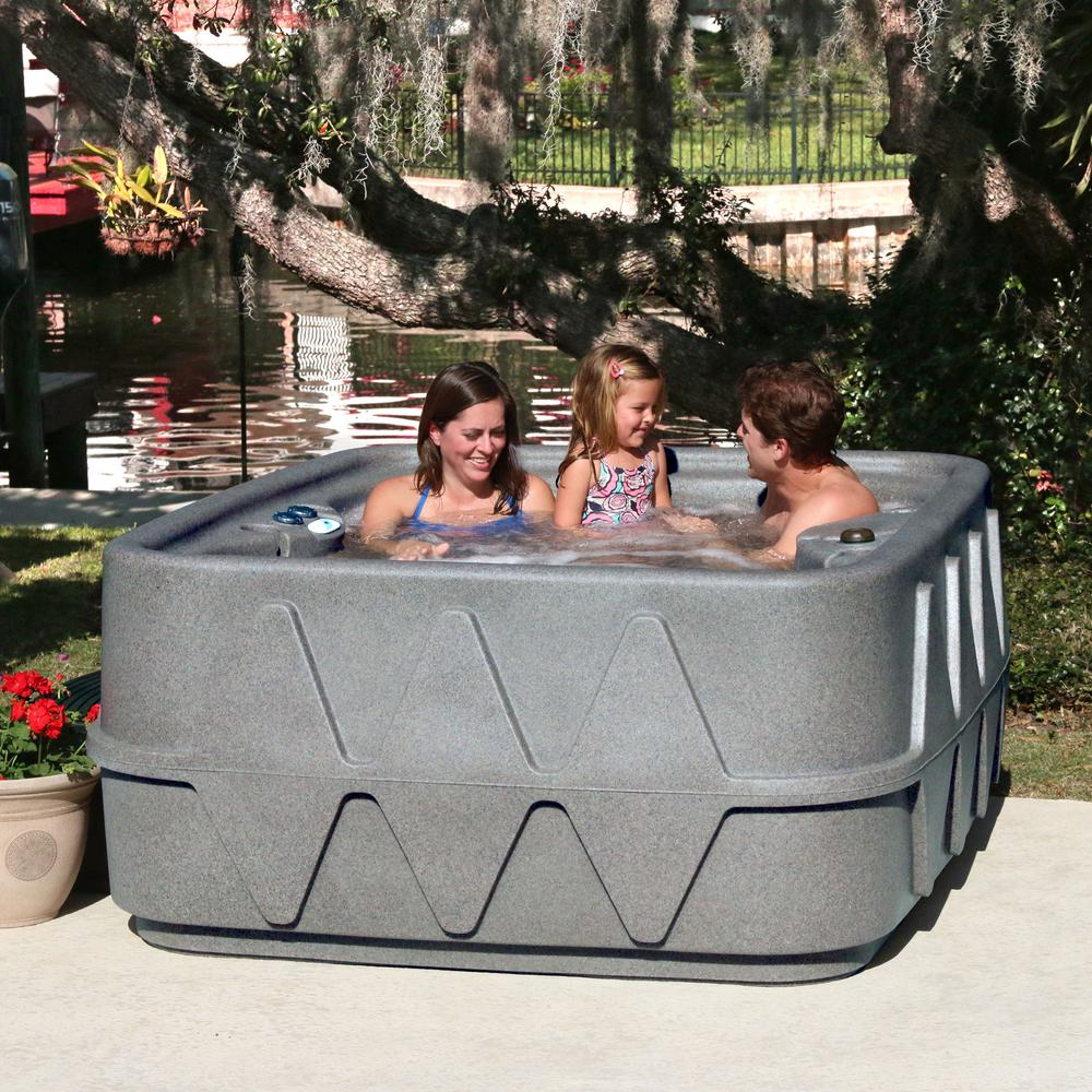 AR-400P 4-Person Spa with Ozone, Heater and 14 Jets in Stainless