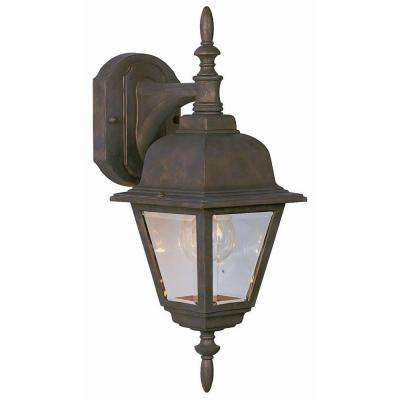 Maple Street Washed Copper Outdoor Wall-Mount Downlight