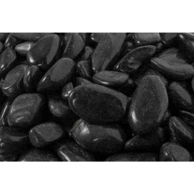 0.25 cu. ft. 1 in. to 2 in. 20 lbs. Black Super Polished Pebbles (108-Pack Pallet)