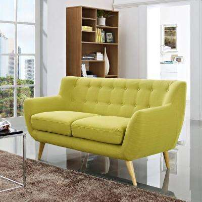 Remark Wheatgrass Upholstered Fabric Loveseat