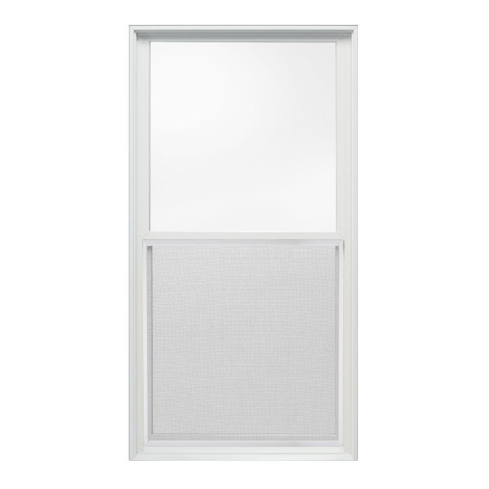 JELD-WEN 29.375 in. x 56 in. W-2500 Series Double Hung Wood Window - White
