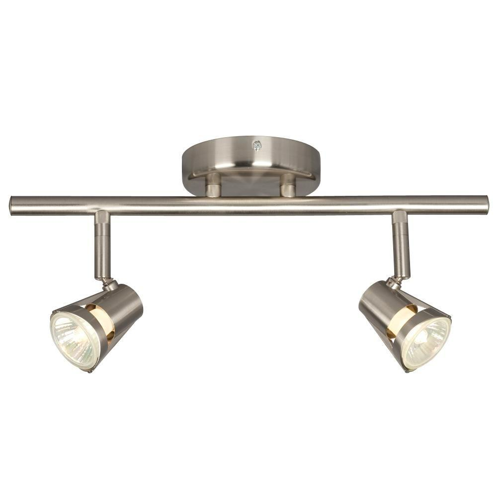 Filament Design N 2 Light Brushed Nickel Track Lighting With Directional Heads