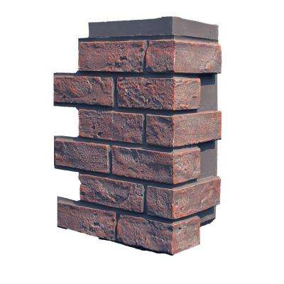Brick Antique Red 15.25 in. x 12 in. Polyurethane Faux Stone Siding Corner (4-Pack)