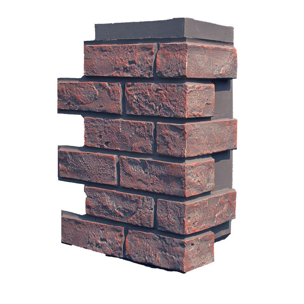 Brick Antique Red 15.25 in. x 12 in. Polyurethane Faux Stone
