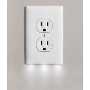 Outlet Wall Plate Cover With 3 Led Night Lights Outlet