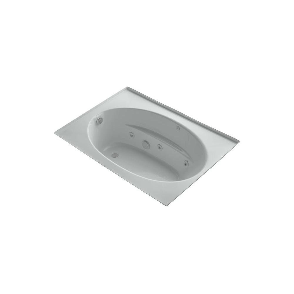 KOHLER Windward 5 ft. Whirlpool Tub in Ice Grey-DISCONTINUED