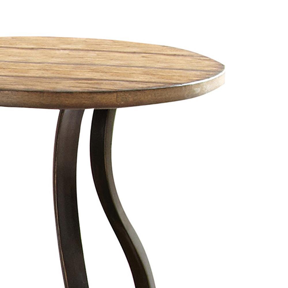 Internet #304486382. Denise Round Oak End Table