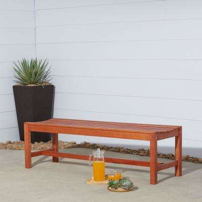 Malibu 3 Person Wood Outdoor Bench