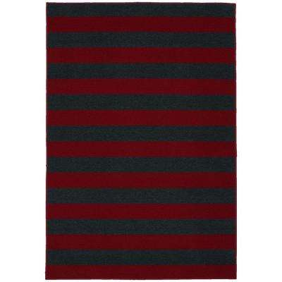 Rugby Chili Red/Indigo Blue 5 ft. x 7 ft. Area Rug